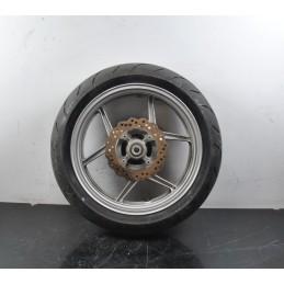 Cerchio posteriore + gomma corona e disco Kawasaki ER-6N dal 2005 al 2008